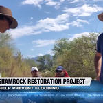 KGUN 9's story on WMG's river restoration work with Pima County.