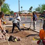 Volunteers installed retrofits in downtown Phoenix
