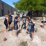 Cienega High School water harvesting project - volunteer thumbs up
