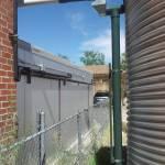 Community demonstration cistern installation