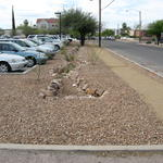 Parking lot post reconstruction