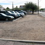 Parking lot prior to reconstruction