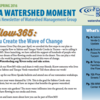 "WMG's Spring Newsletter ""A Watershed Moment"" newsletter cover"