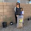 A Tucson family with their Build Your Own Basin (BYOB) kit