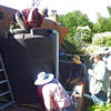 WMG's project managers and volunteers install a rain tank at a Tucson home.