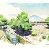 A restored Santa Cruz River! Artwork by Dennis Caldwell.