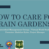 Virtual Field Studies Rain Garden Care Presentation