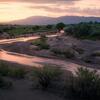 sunset-river-flow