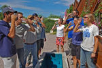 Staff and interns at WMG's Living Lab enjoy rainwater on tap.